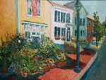 Flores Mantilla in Marblehead Mass Painting by Holly Aloha Jaynes