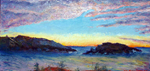 Monhegan Island Sunset Painting